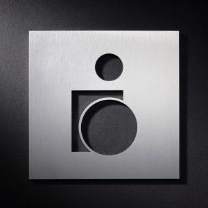 P WC B S - Piktogramm Schild WC Behinderte-0