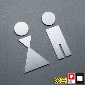 P WC P - Piktogramm WC Mann und Frau-0
